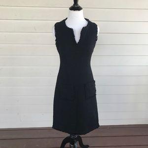 Karl Lagerfeld Sleeveless Little Black Knit Dress